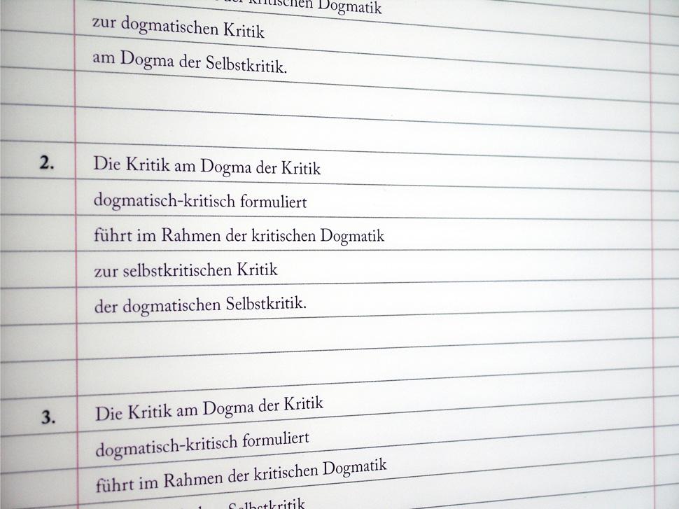 Grammatikgrammatur der Kritik
