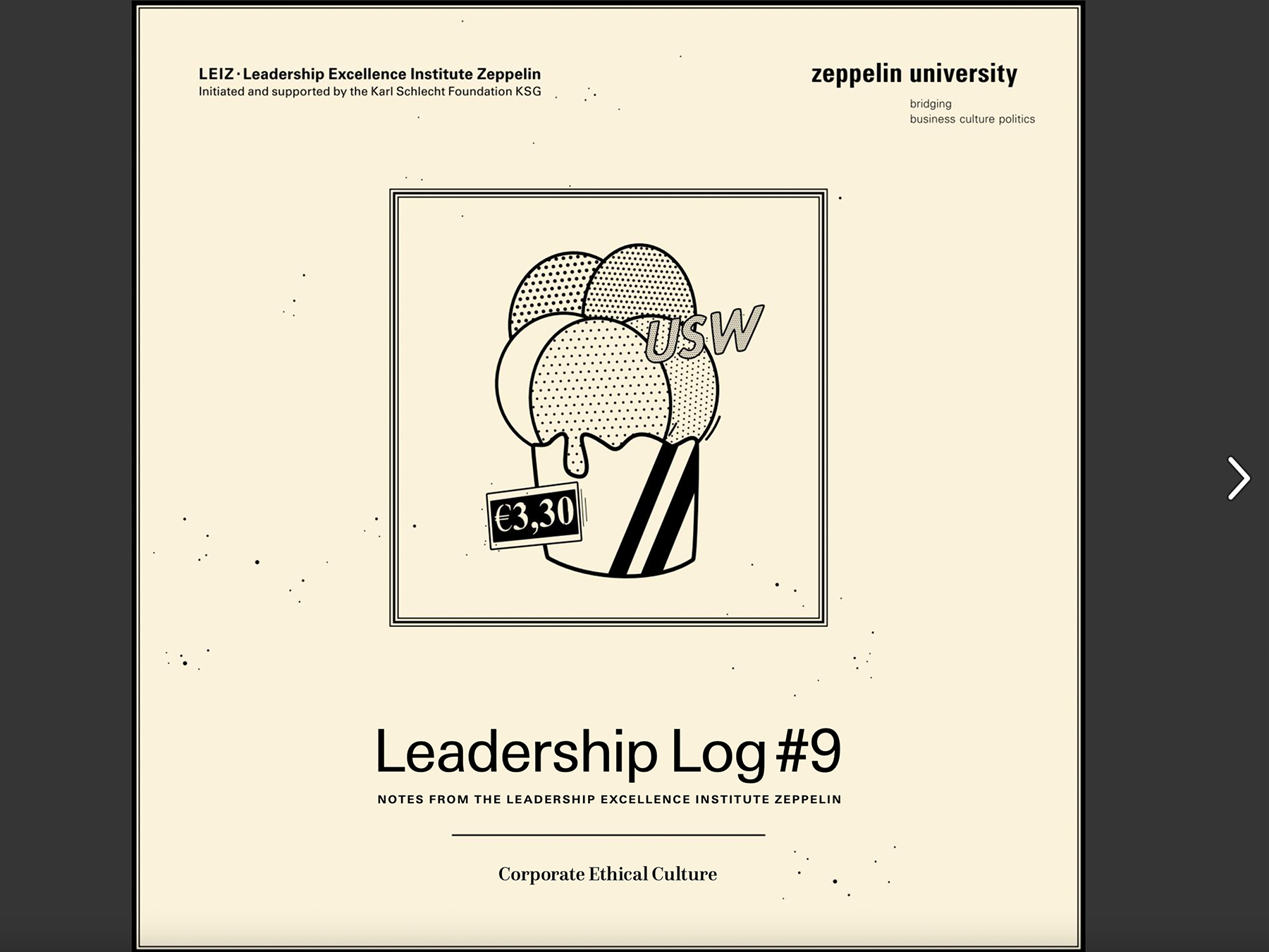 »Corporate Ethical Culture«   LOG#9   Zeppelin University